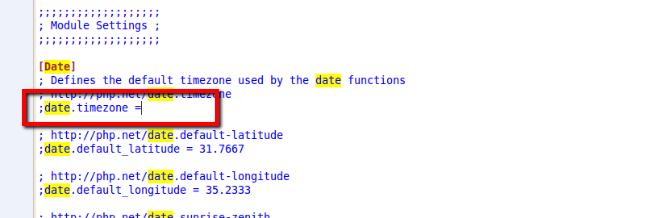 "Set ""date.timezone"" option in php.ini | Expertwebadvisor"